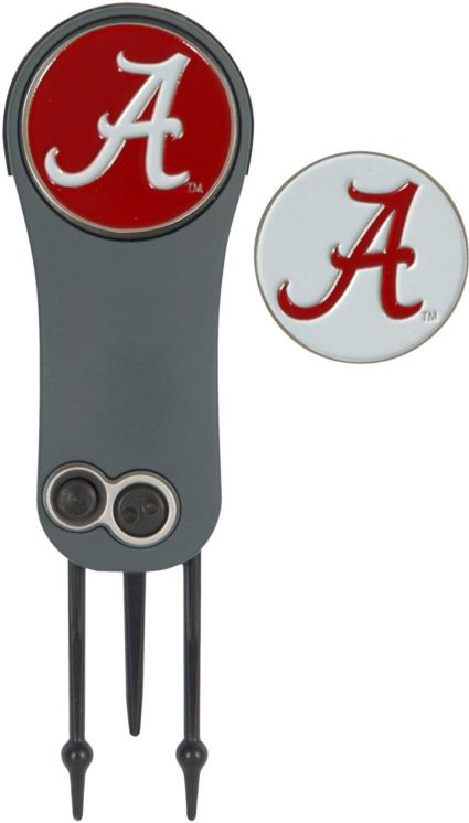 Team Effort Alabama Crimson Tide Switchblade Divot Tool and Ball Marker Set