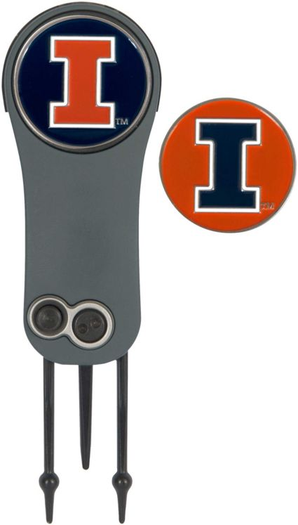 Team Effort Illinois Fighting Illini Switchblade Divot Tool and Ball Marker Set