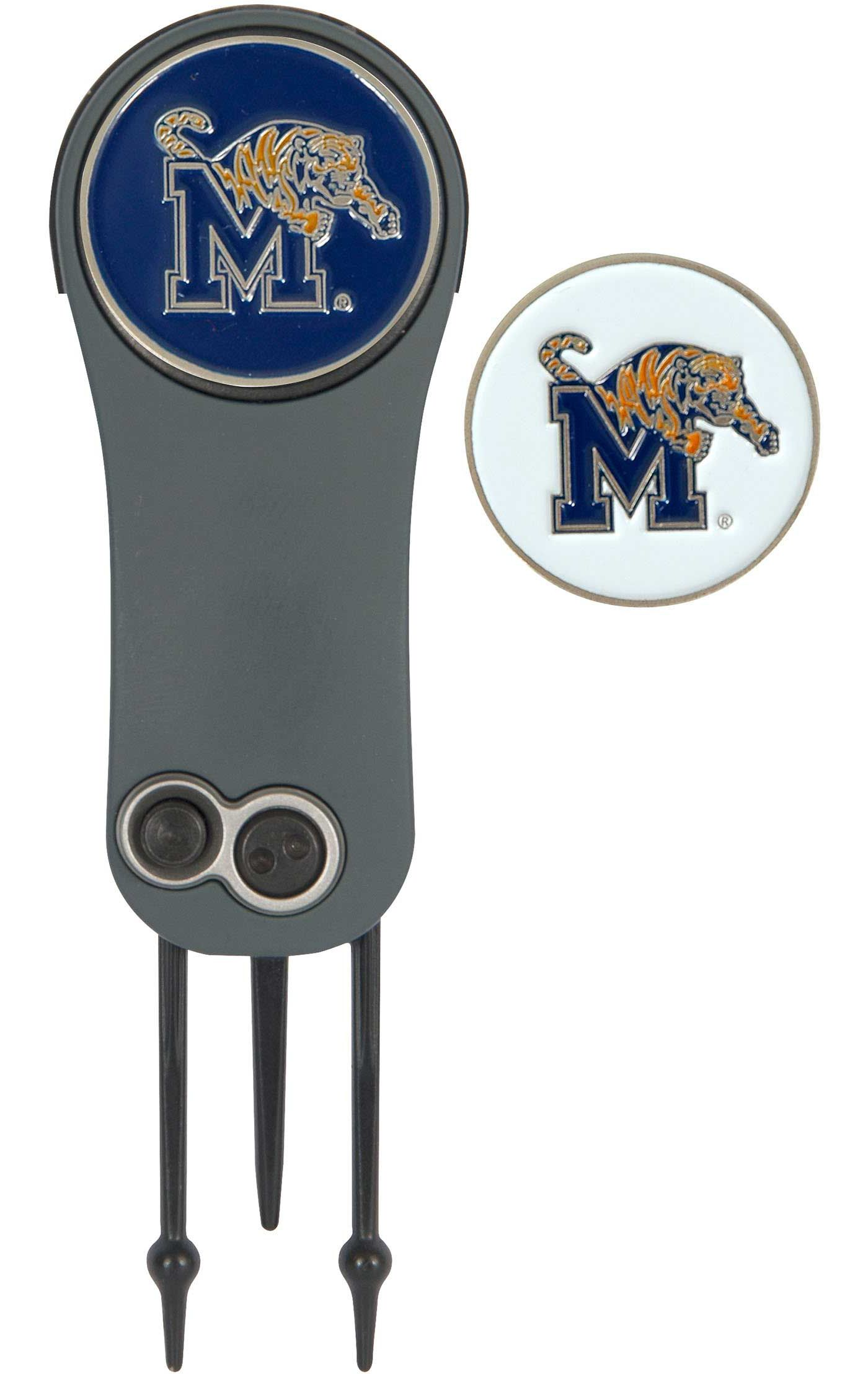 Team Effort Memphis Tigers Switchblade Divot Tool and Ball Marker Set