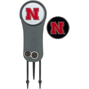 Team Effort Nebraska Cornhuskers Switchblade Divot Tool and Ball Marker Set