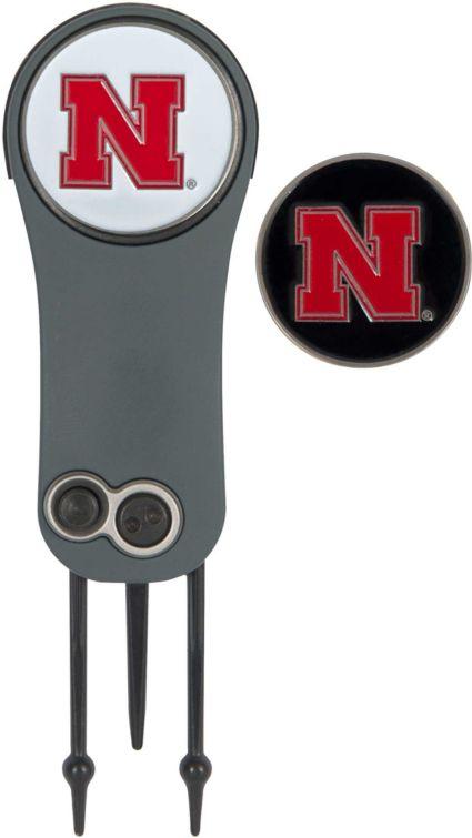 Team Effort Nebraska Cornhuskers Switchblade Divot Tool and Ball Marker Set