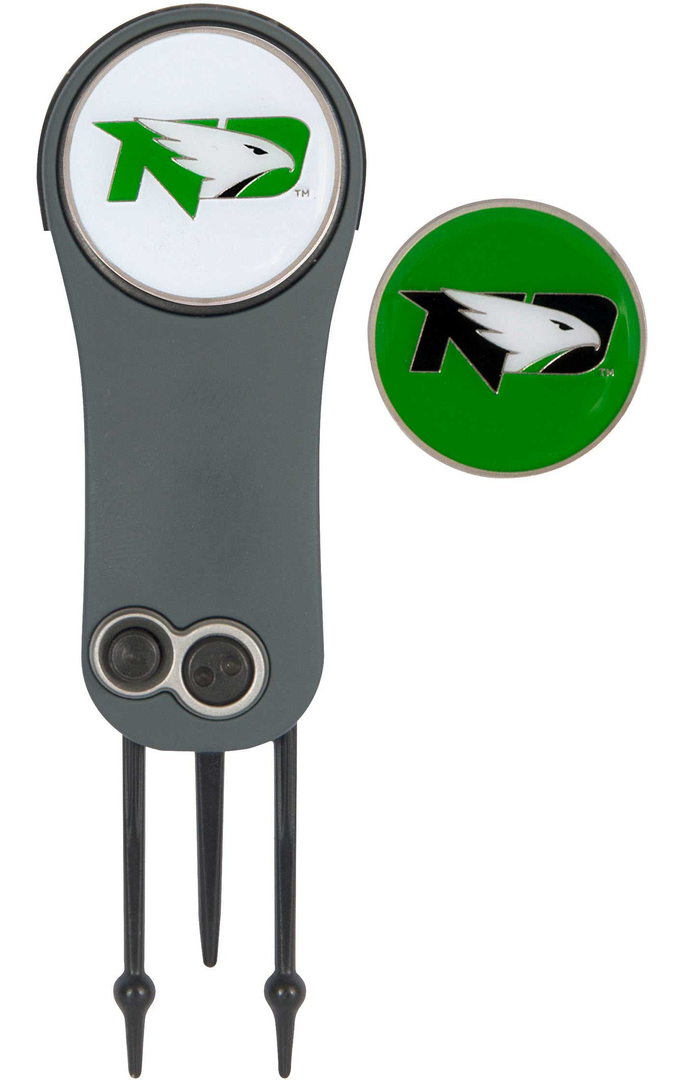 Team Effort North Dakota Fighting Hawks Switchblade Divot Tool and Ball Marker Set