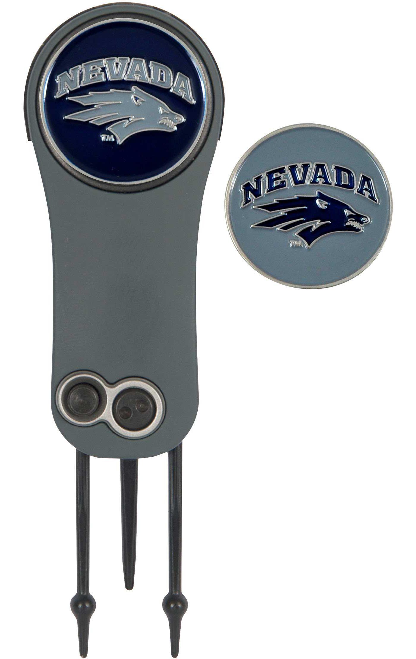 Team Effort Nevada Wolf Pack Switchblade Divot Tool and Ball Marker Set