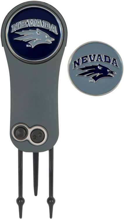 Team Effort Nevada Wolf Pack Switchblade Divot Tool and Ball Marker Set