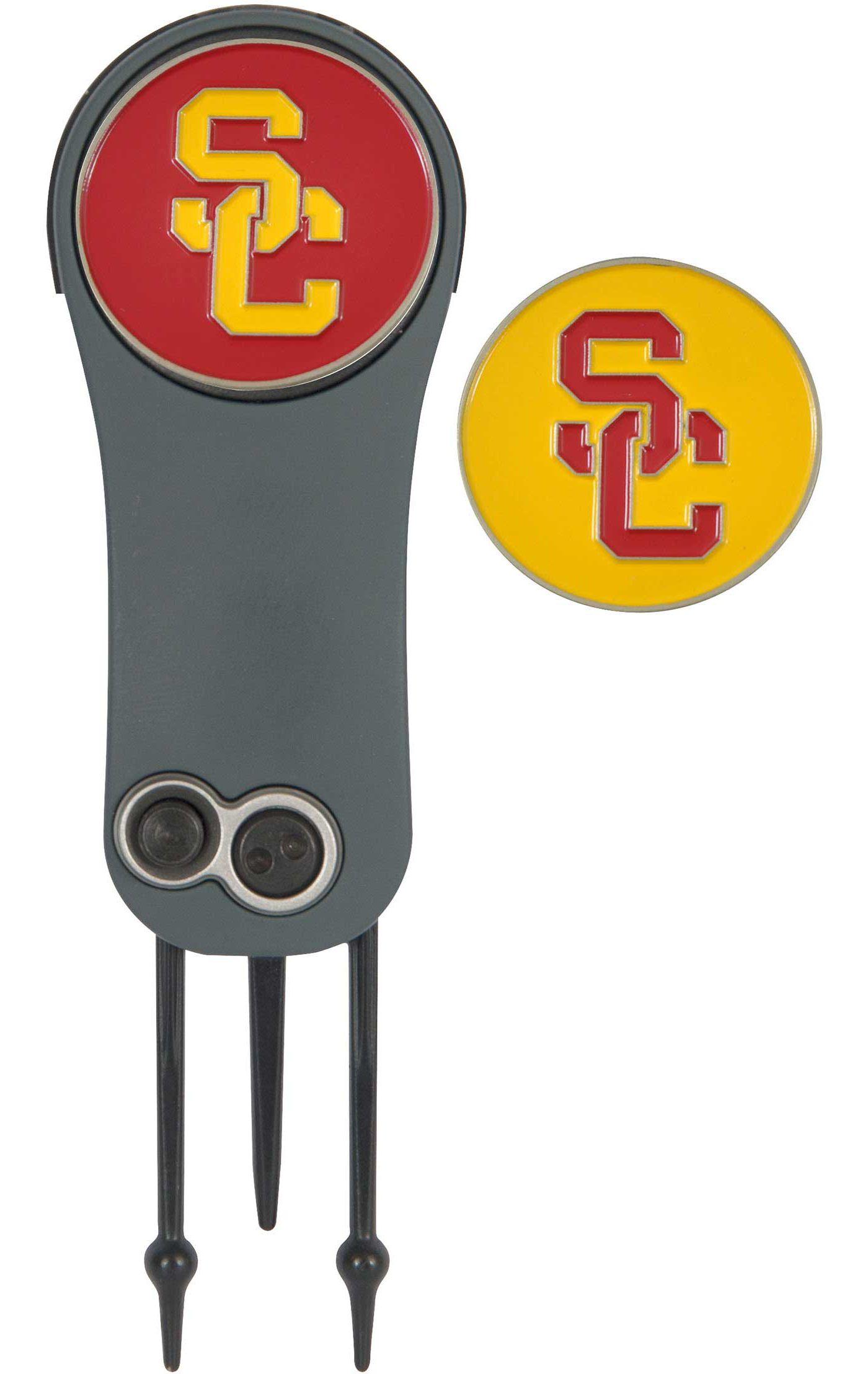 Team Effort USC Trojans Switchblade Divot Tool and Ball Marker Set