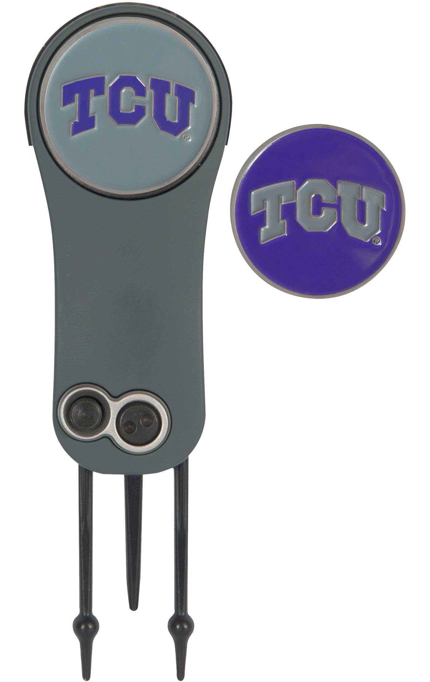 Team Effort TCU Horned Frogs Switchblade Divot Tool and Ball Marker Set