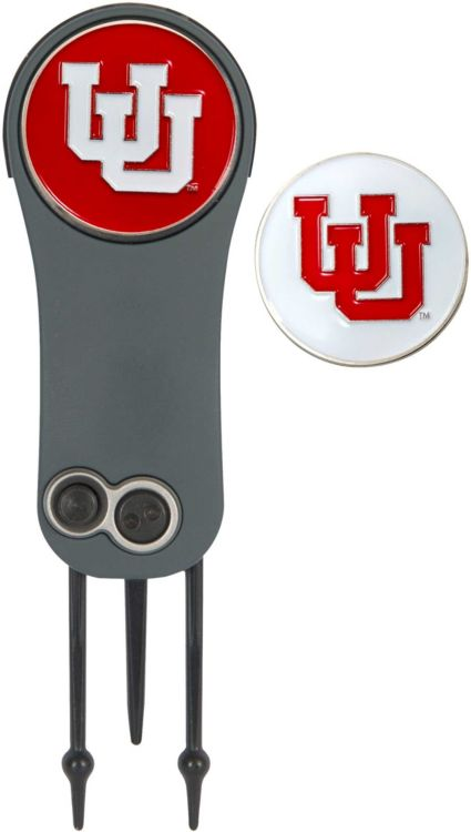 Team Effort Utah Utes Switchblade Divot Tool and Ball Marker Set