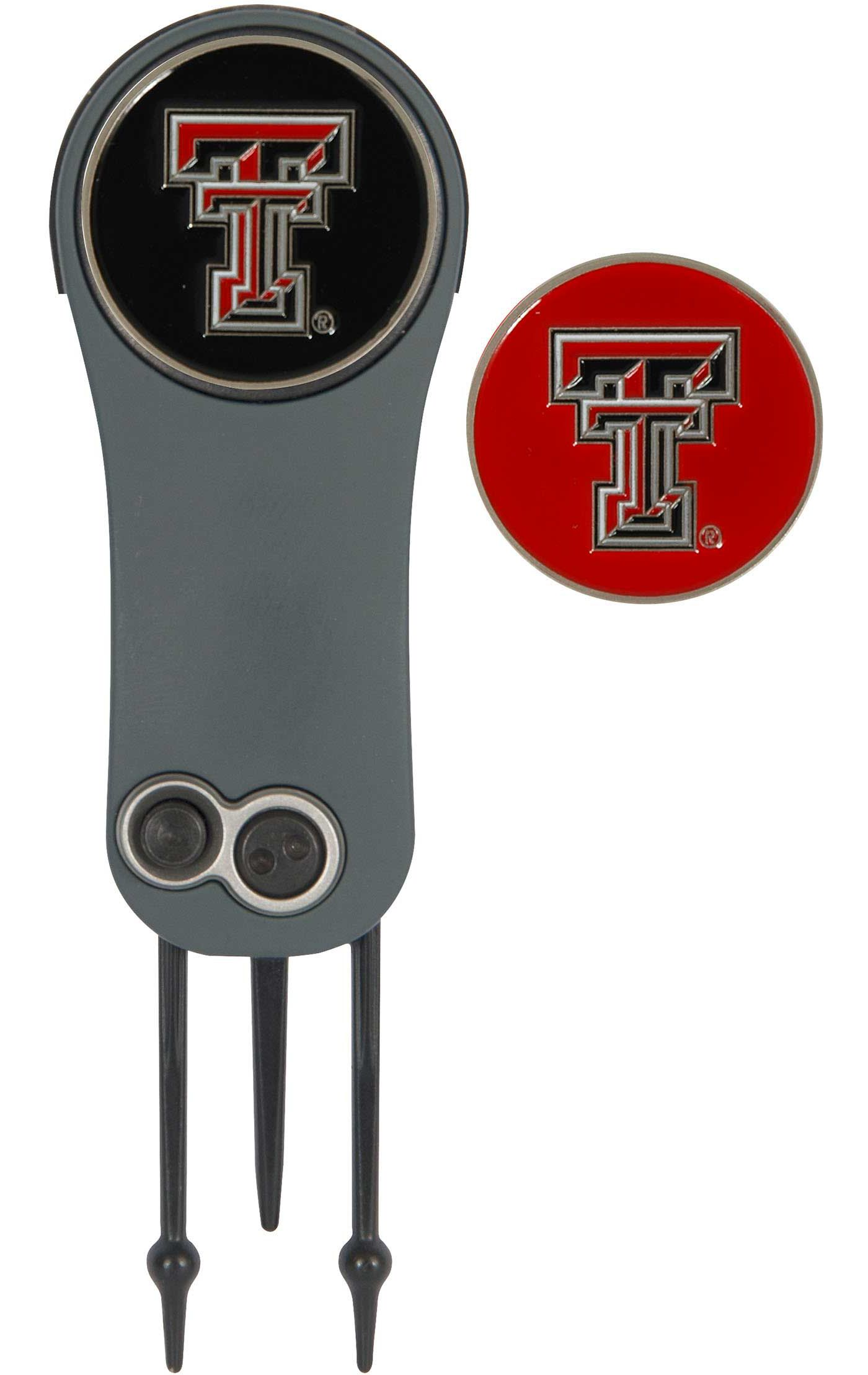 Team Effort Texas Tech Red Raiders Switchblade Divot Tool and Ball Marker Set