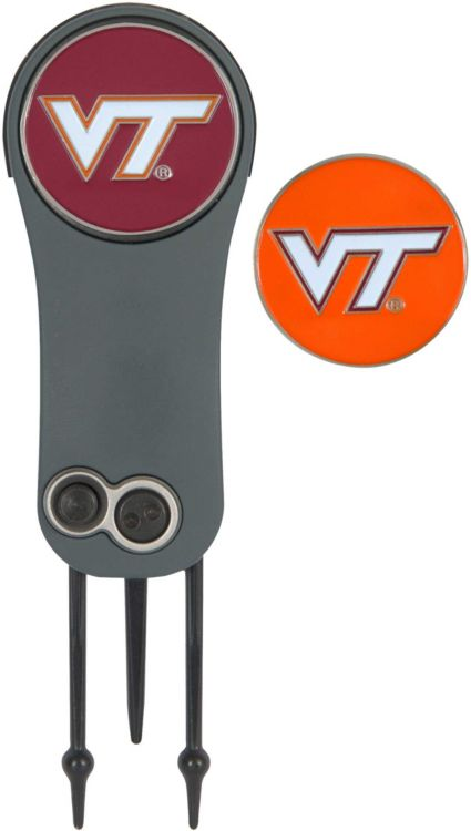 Team Effort Virginia Tech Hokies Switchblade Divot Tool and Ball Marker Set