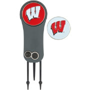 Team Effort Wisconsin Badgers Switchblade Divot Tool and Ball Marker Set
