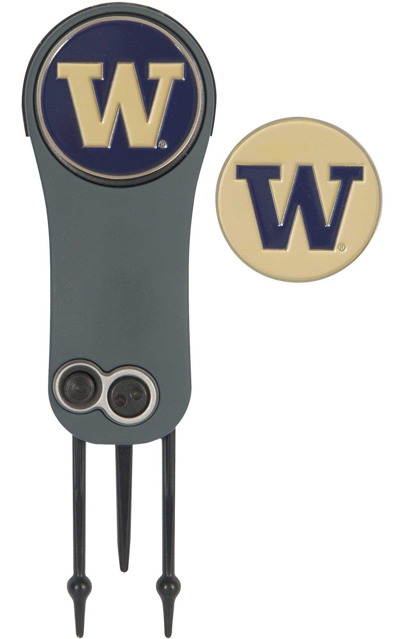 Team Effort Washington Huskies Switchblade Divot Tool and Ball Marker Set