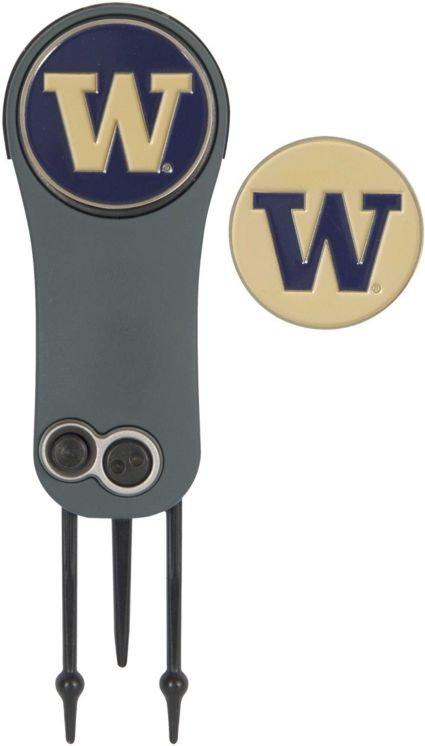 Team Effort Washington Huskies Switchblade Divot Tool and Ball Marker Set