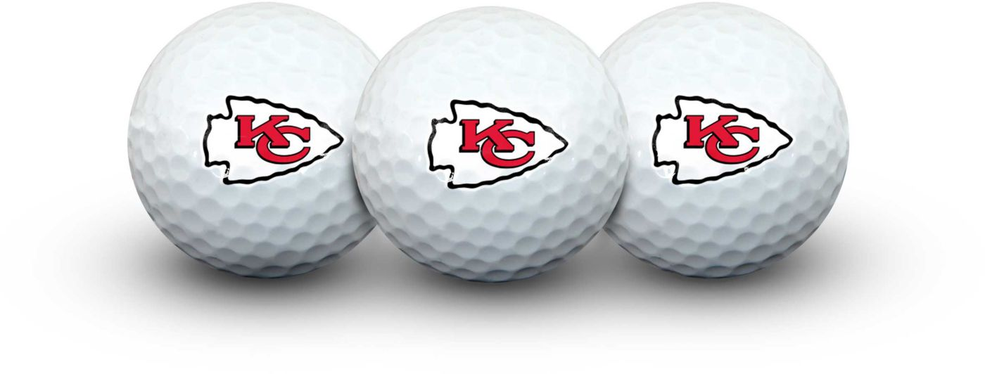 Team Effort Kansas City Chiefs Golf Balls - 3 Pack