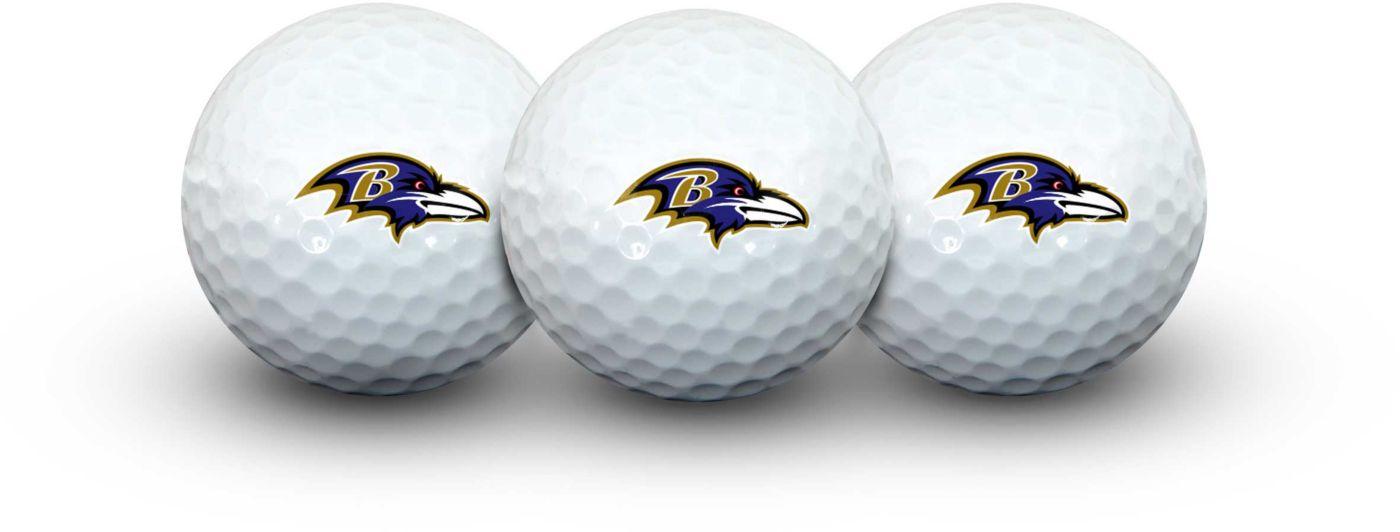 Team Effort Baltimore Ravens Golf Balls - 3 Pack