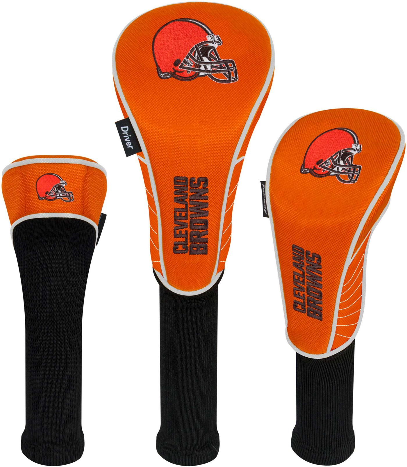 Team Effort Cleveland Browns Headcovers - 3 Pack