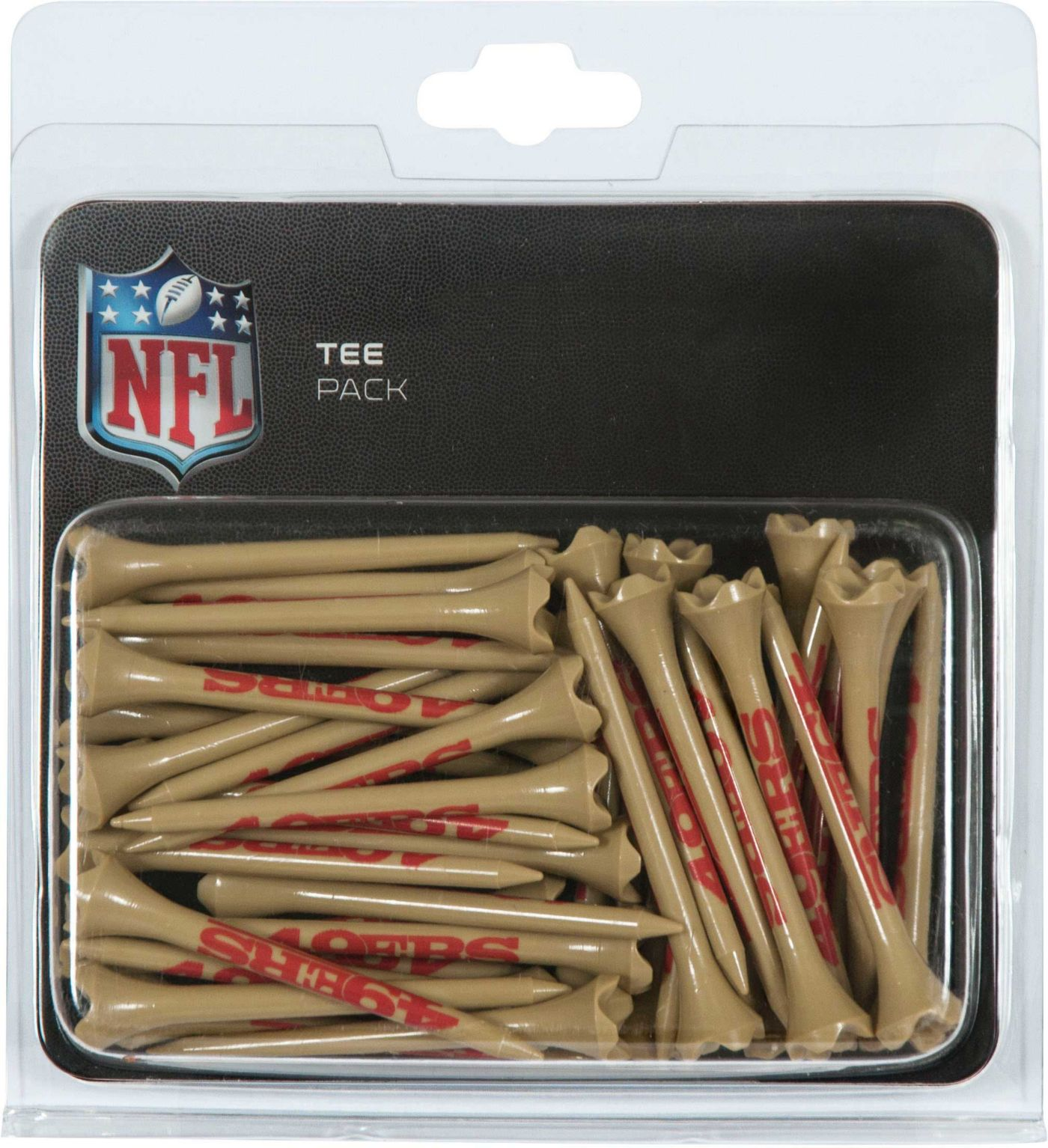 "Team Effort San Francisco 49ers 2.75"" Golf Tees - 40 Pack"