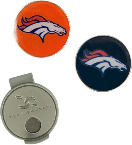 Team Effort Denver Broncos Hat Clip and Ball Markers Set