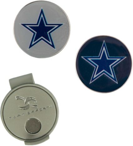 Team Effort Dallas Cowboys Hat Clip and Ball Markers Set