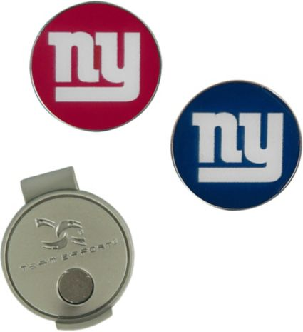 Team Effort New York Giants Hat Clip and Ball Markers Set