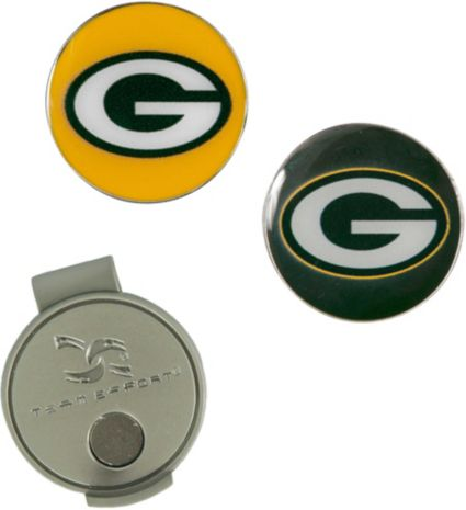 Team Effort Green Bay Packers Hat Clip and Ball Markers Set