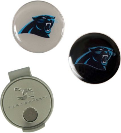 Team Effort Carolina Panthers Hat Clip and Ball Markers Set