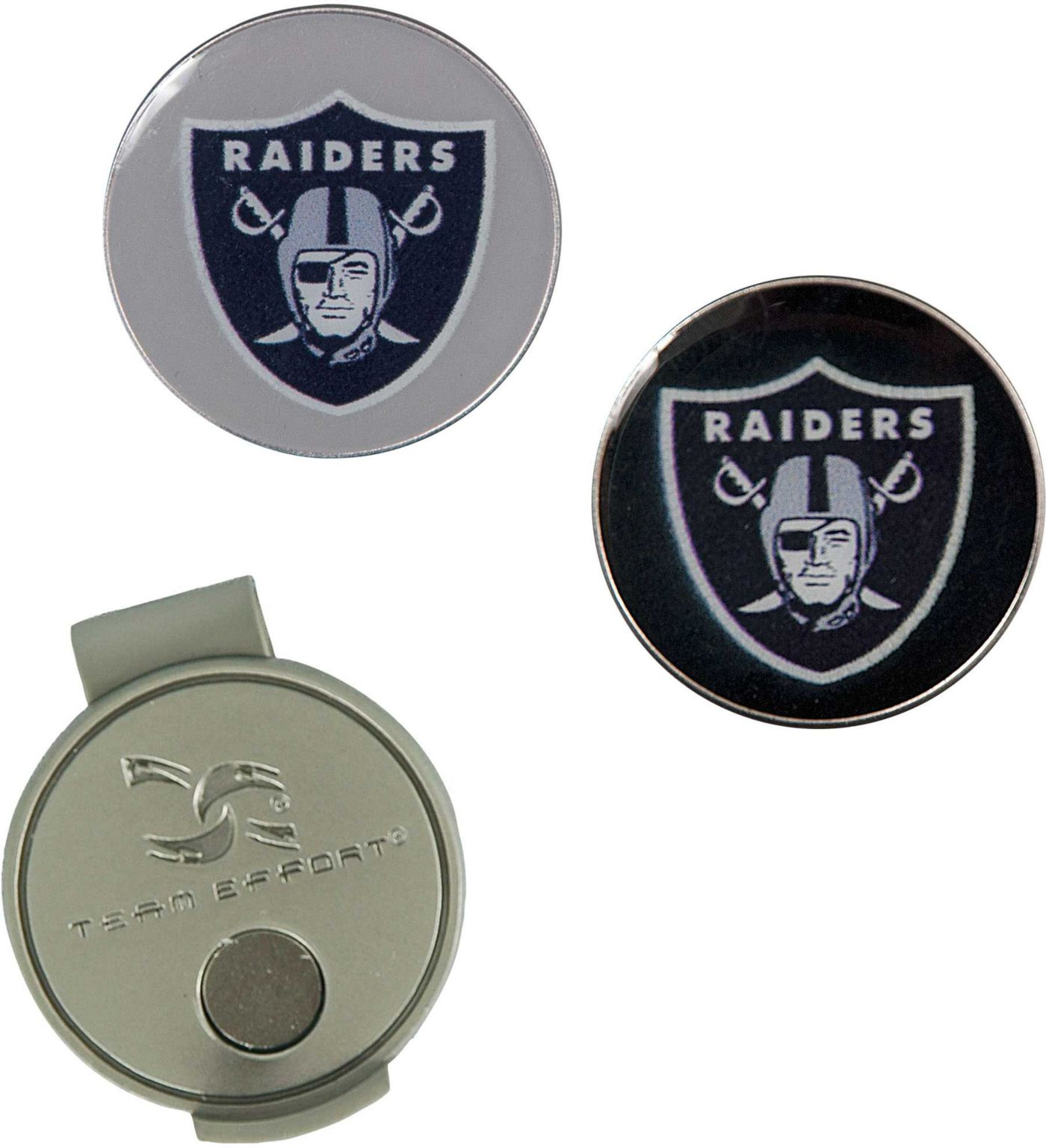 Team Effort Oakland Raiders Hat Clip and Ball Markers Set