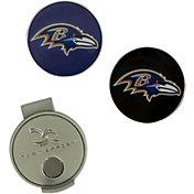 Team Effort Baltimore Ravens Hat Clip and Ball Markers Set