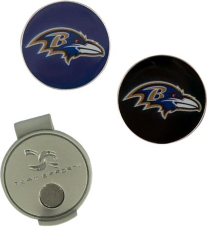 Team Effort Baltimore Ravens Hat Clip and Ball Markers Set