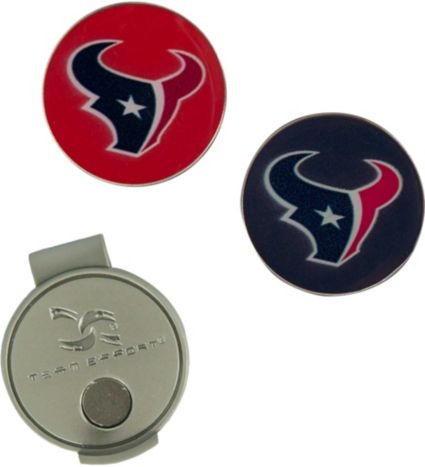 Team Effort Houston Texans Hat Clip and Ball Markers Set