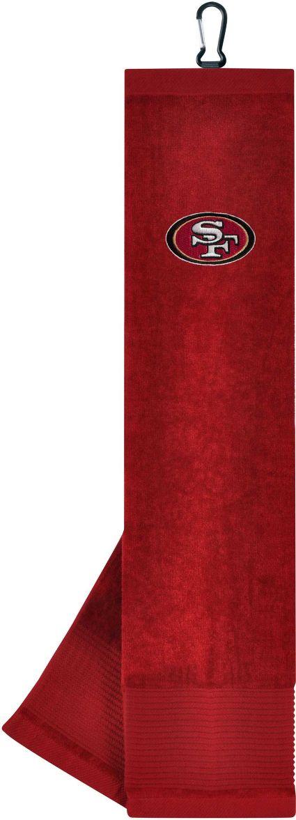 Team Effort San Francisco 49ers Embroidered Face/Club Tri-Fold Towel