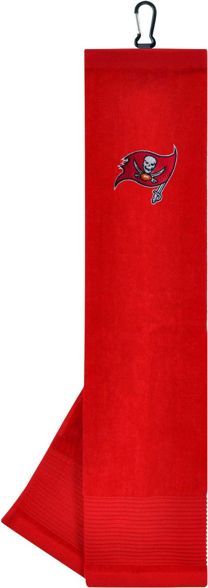 Team Effort Tampa Bay Buccaneers Embroidered Face/Club Tri-Fold Towel