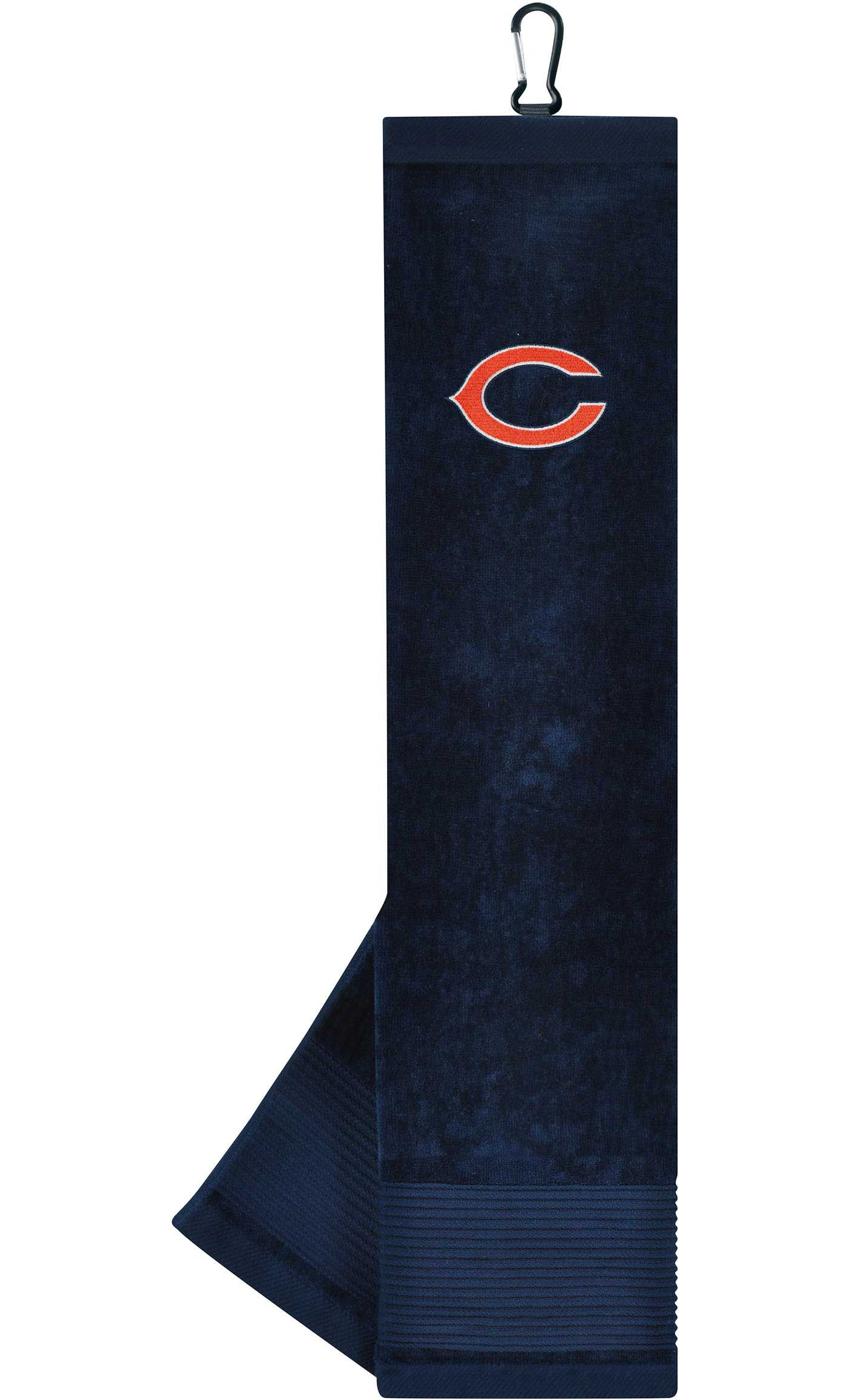 Team Effort Chicago Bears Embroidered Face/Club Tri-Fold Towel