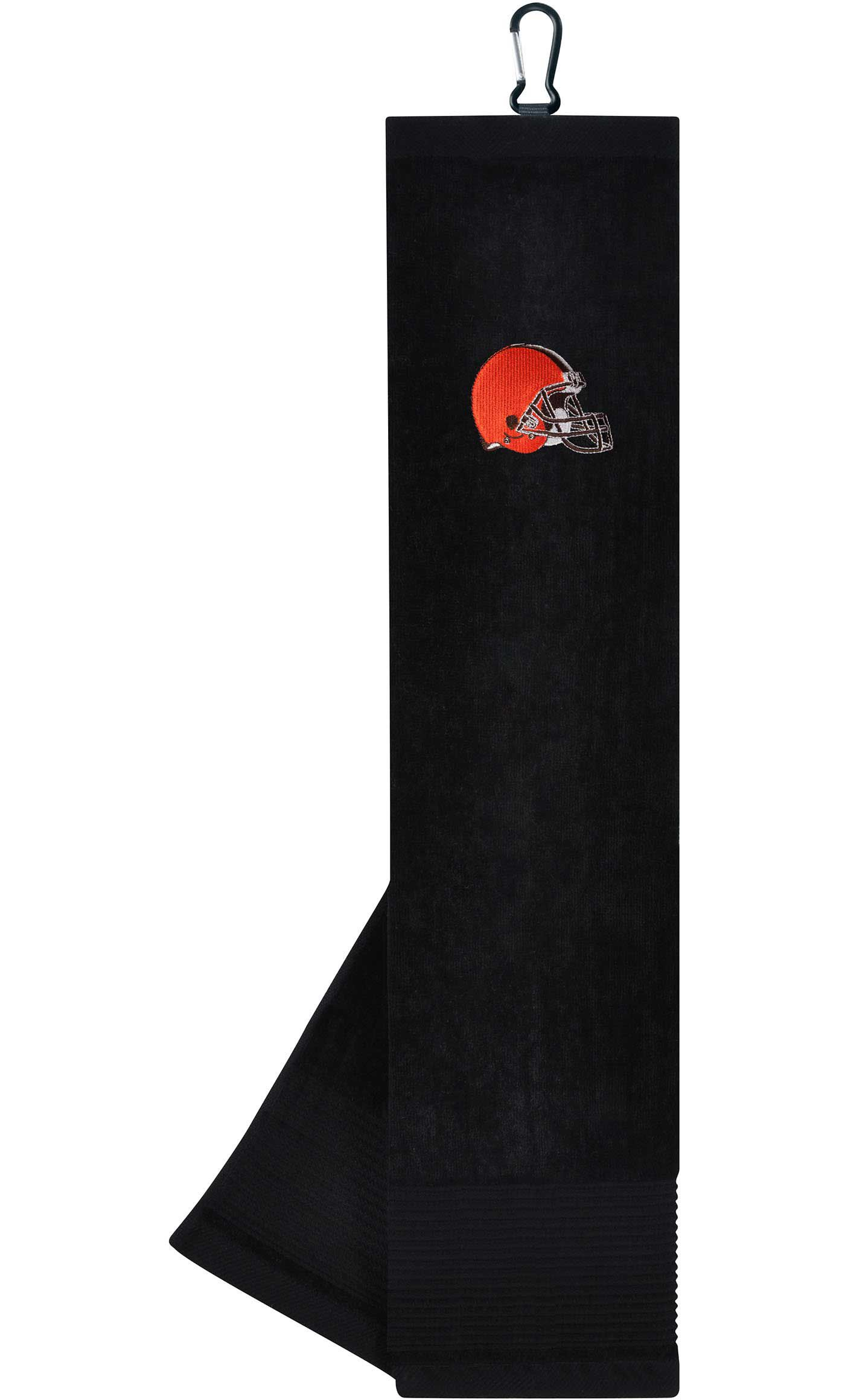 Team Effort Cleveland Browns Embroidered Face/Club Tri-Fold Towel