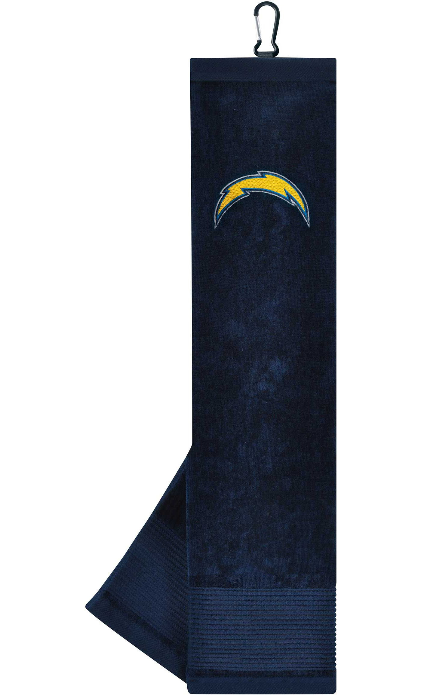 Team Effort Los Angeles Chargers Embroidered Face/Club Tri-Fold Towel