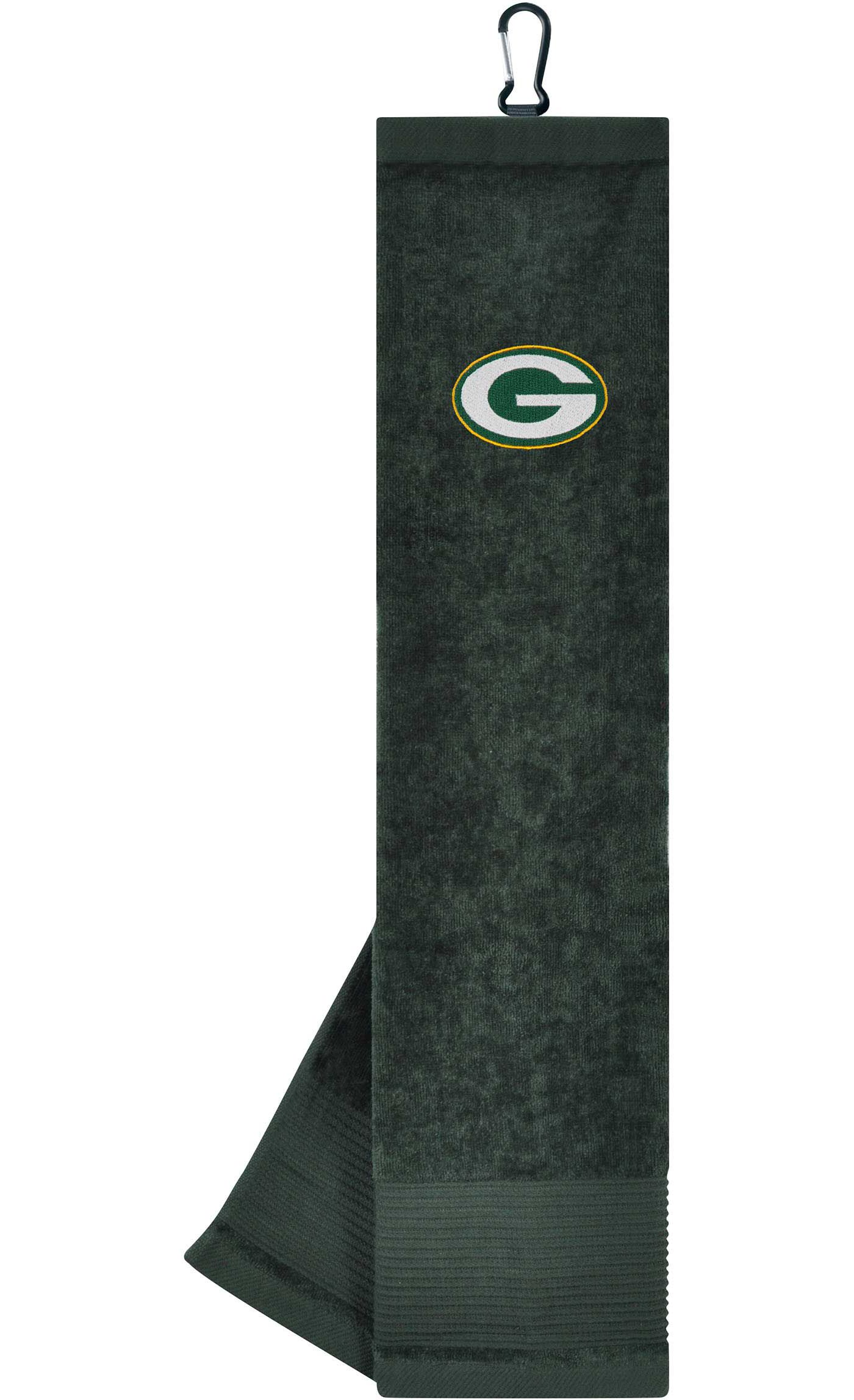 Team Effort Green Bay Packers Embroidered Face/Club Tri-Fold Towel