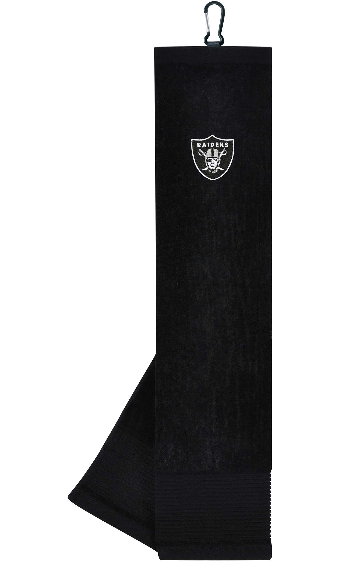 Team Effort Oakland Raiders Embroidered Face/Club Tri-Fold Towel
