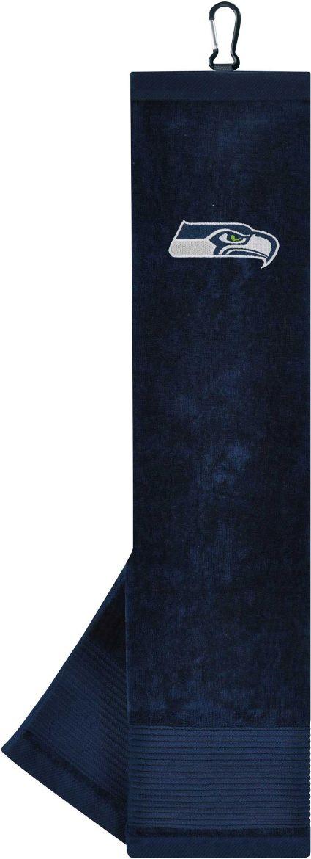 Team Effort Seattle Seahawks Embroidered Face/Club Tri-Fold Towel