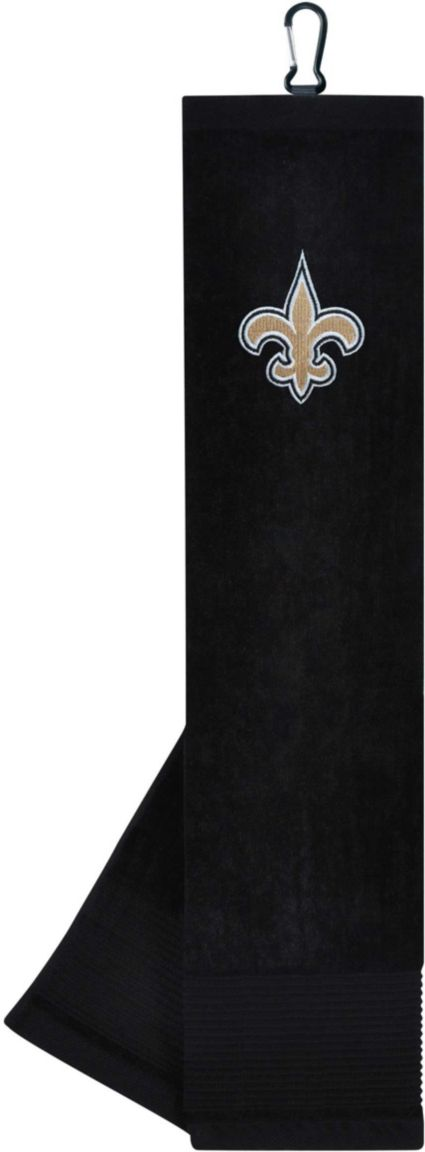 Team Effort New Orleans Saints Embroidered Face/Club Tri-Fold Towel