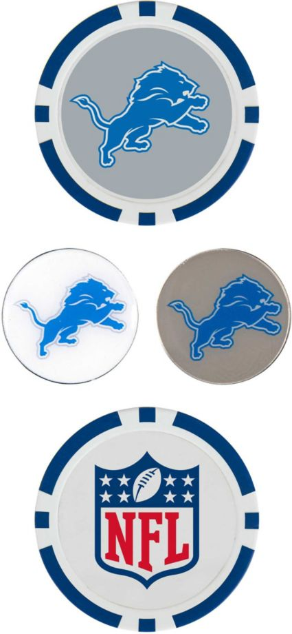 Team Effort Detroit Lions Ball Marker Set