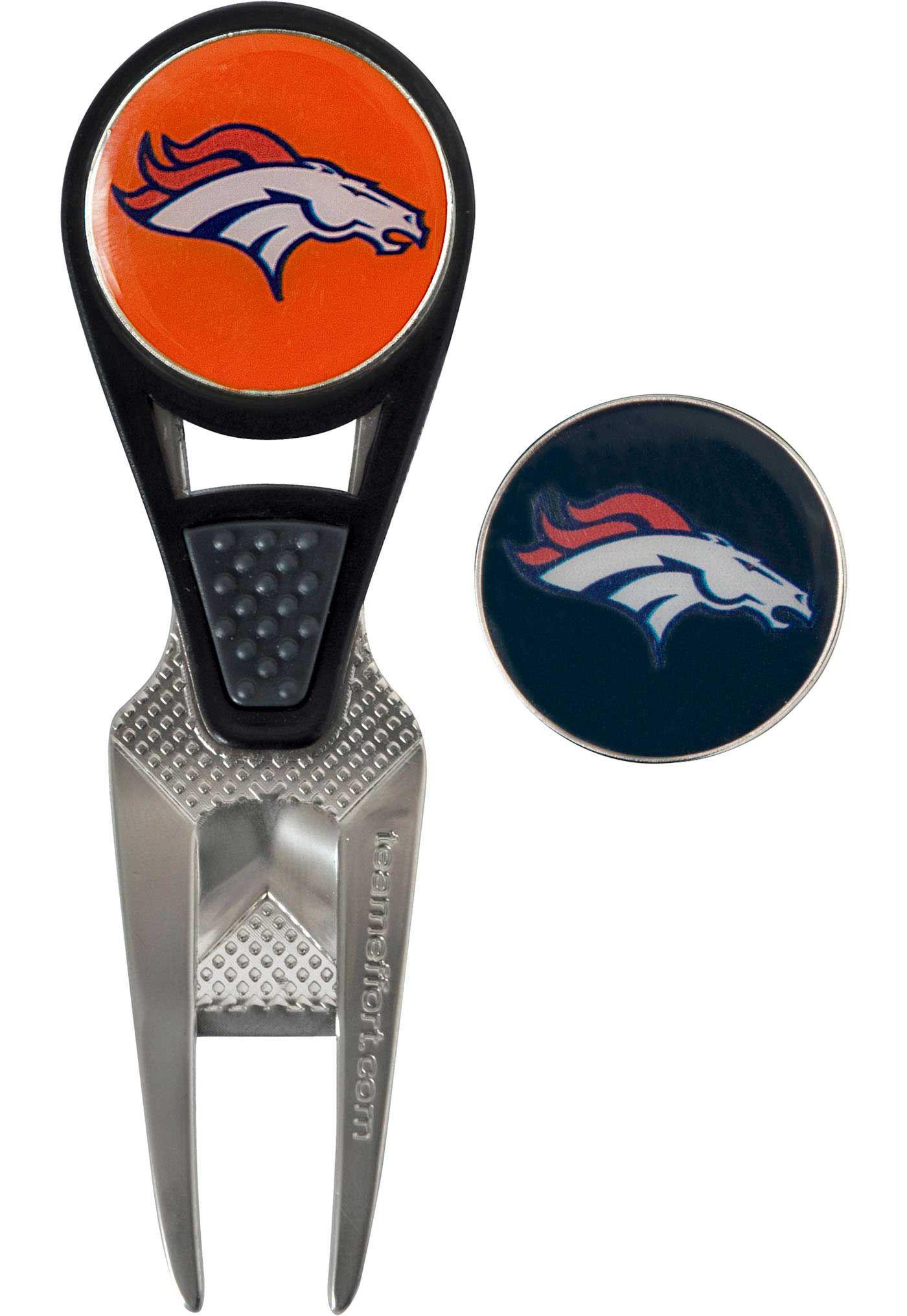 Team Effort Denver Broncos CVX Divot Tool and Ball Marker Set