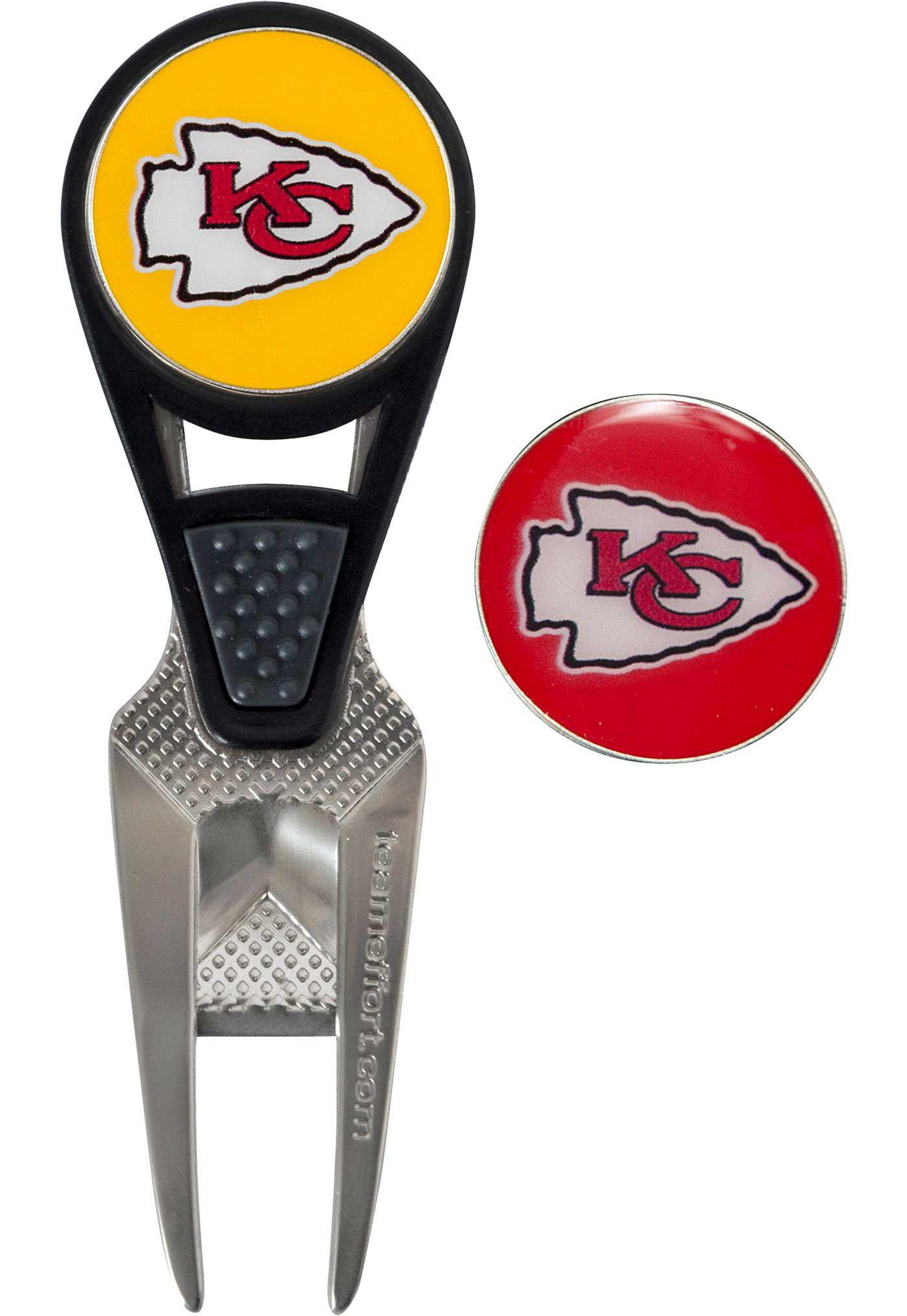 Team Effort Kansas City Chiefs CVX Divot Tool and Ball Marker Set