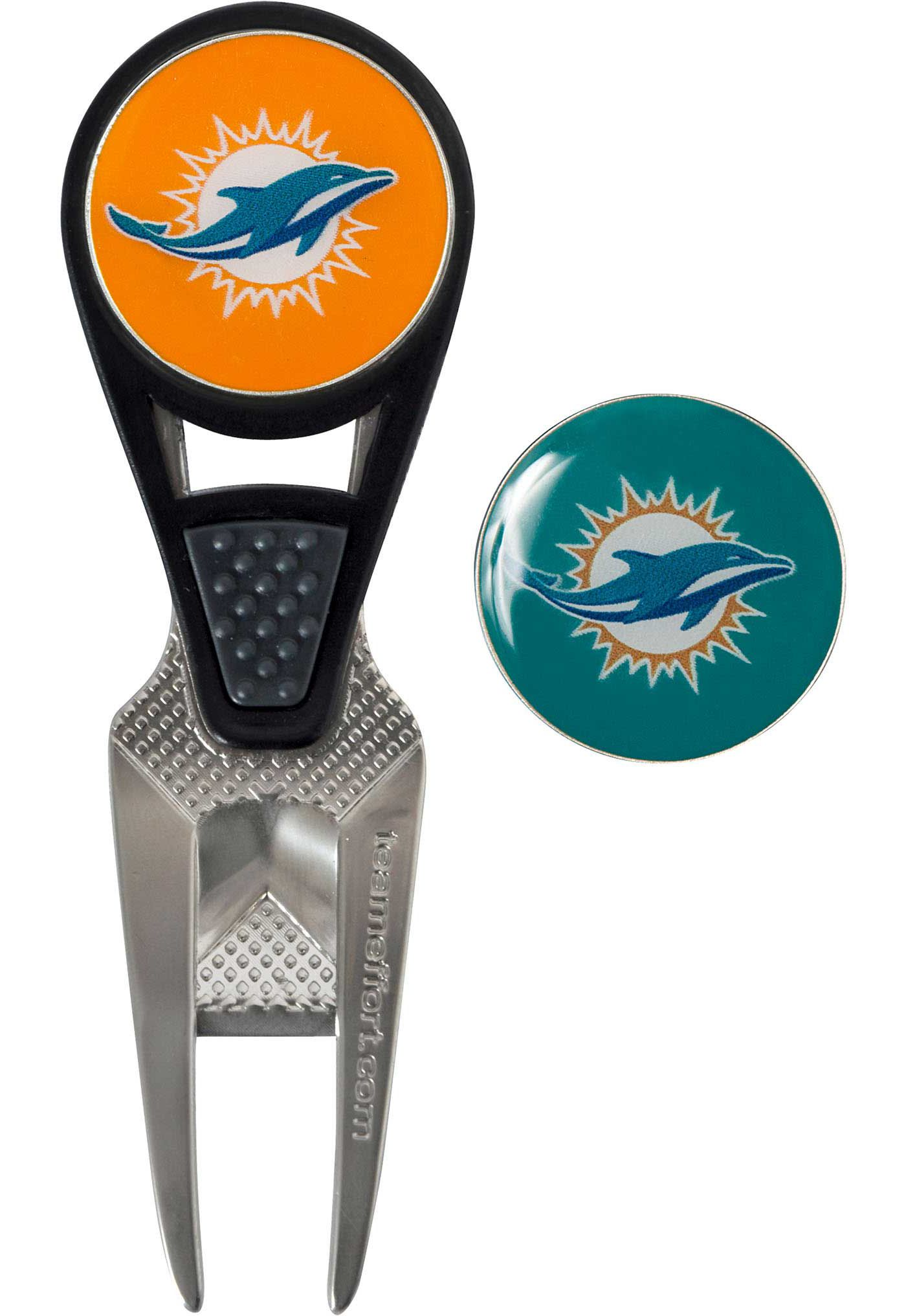 Team Effort Miami Dolphins CVX Divot Tool and Ball Marker Set