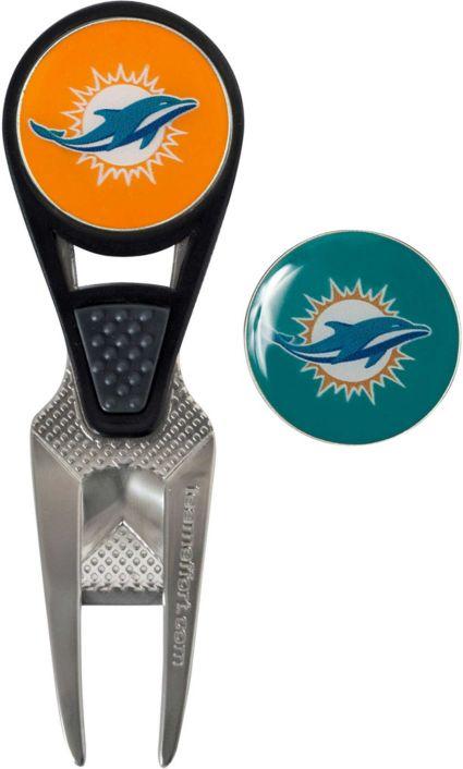 Team Effort Miami Dolphins CVX Divot Tool and Ball Marker Set