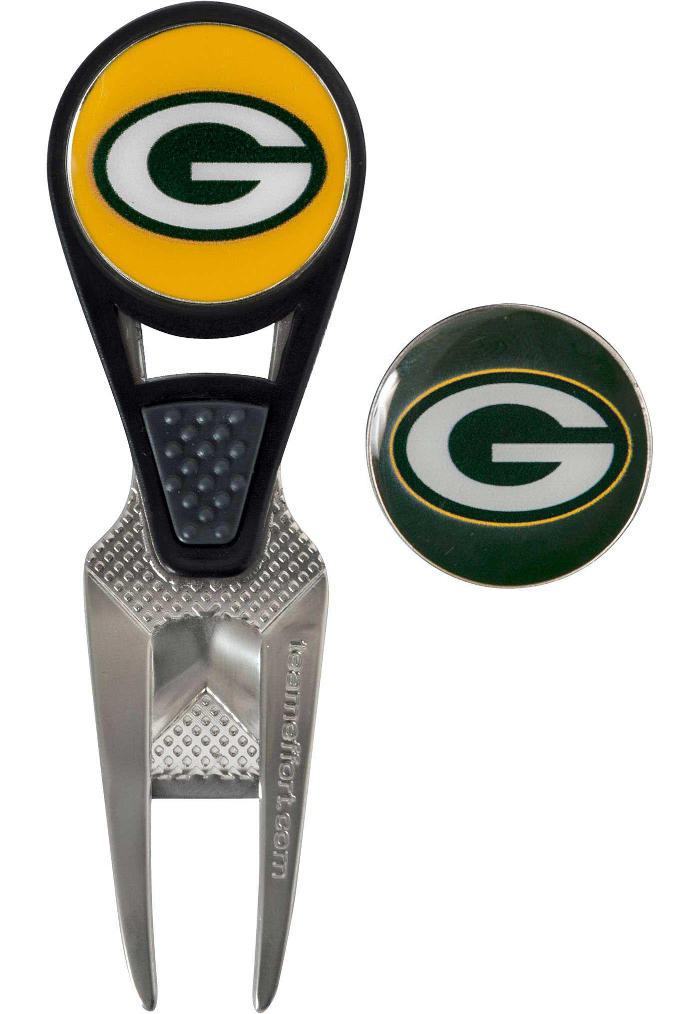 Team Effort Green Bay Packers CVX Divot Tool and Ball Marker Set