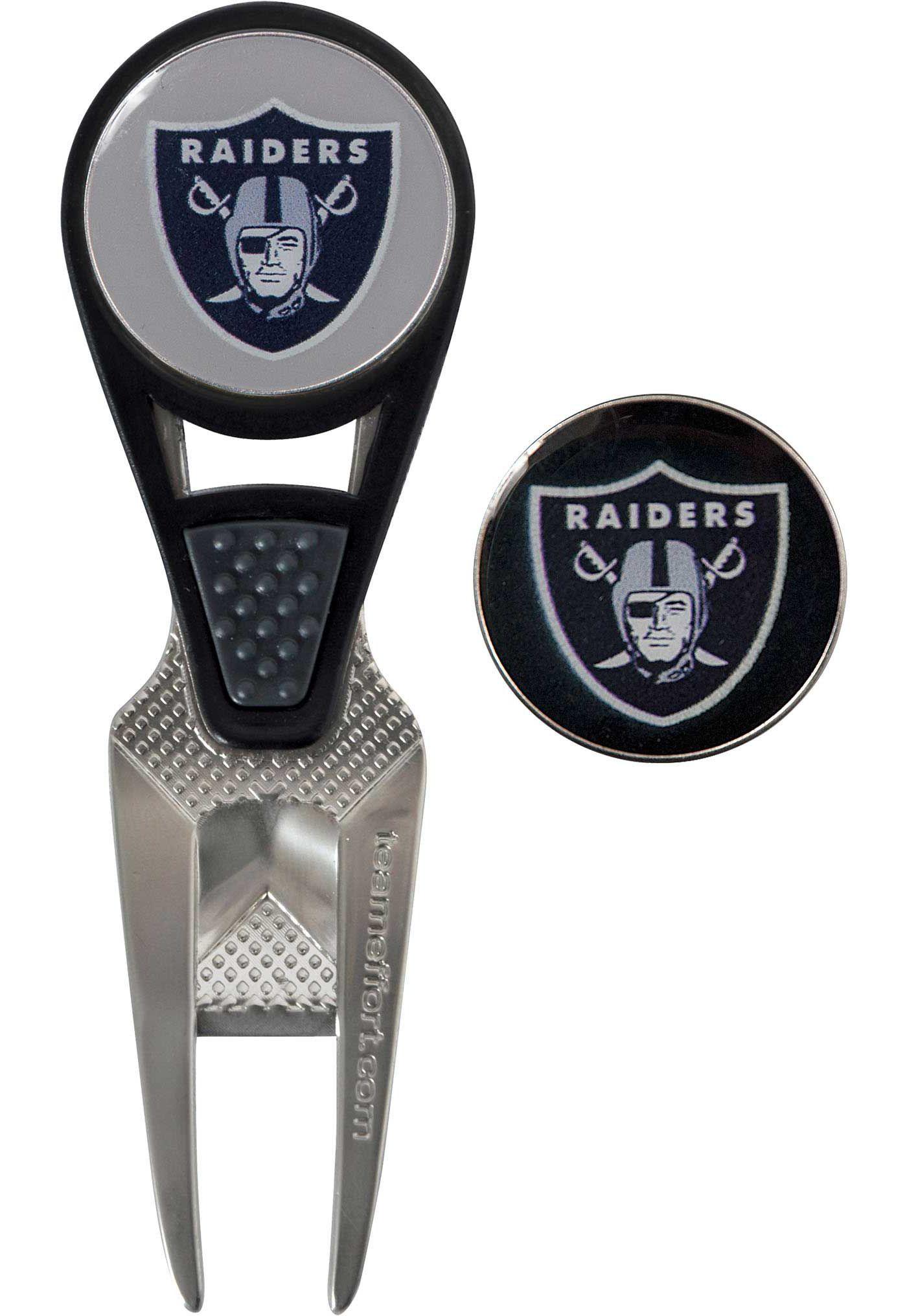 Team Effort Oakland Raiders CVX Divot Tool and Ball Marker Set