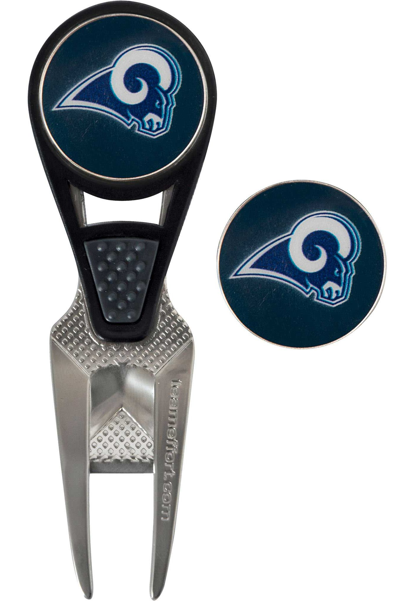 Team Effort Los Angeles Rams CVX Divot Tool and Ball Marker Set