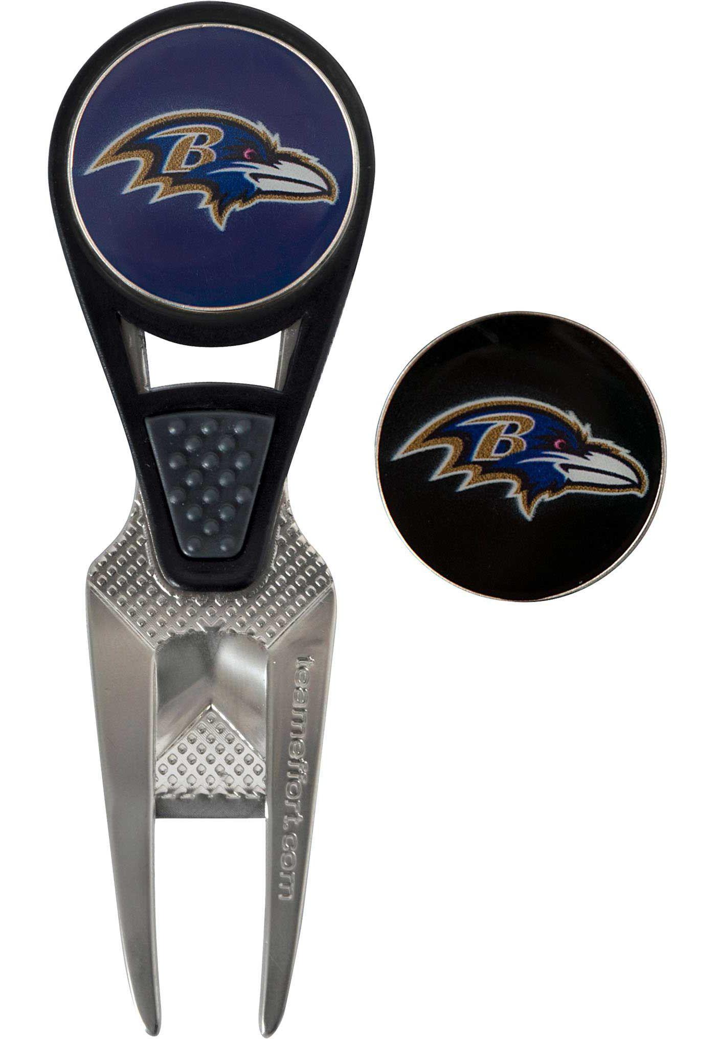 Team Effort Baltimore Ravens CVX Divot Tool and Ball Marker Set
