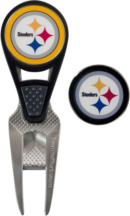 Team Effort Pittsburgh Steelers CVX Divot Tool and Ball Marker Set
