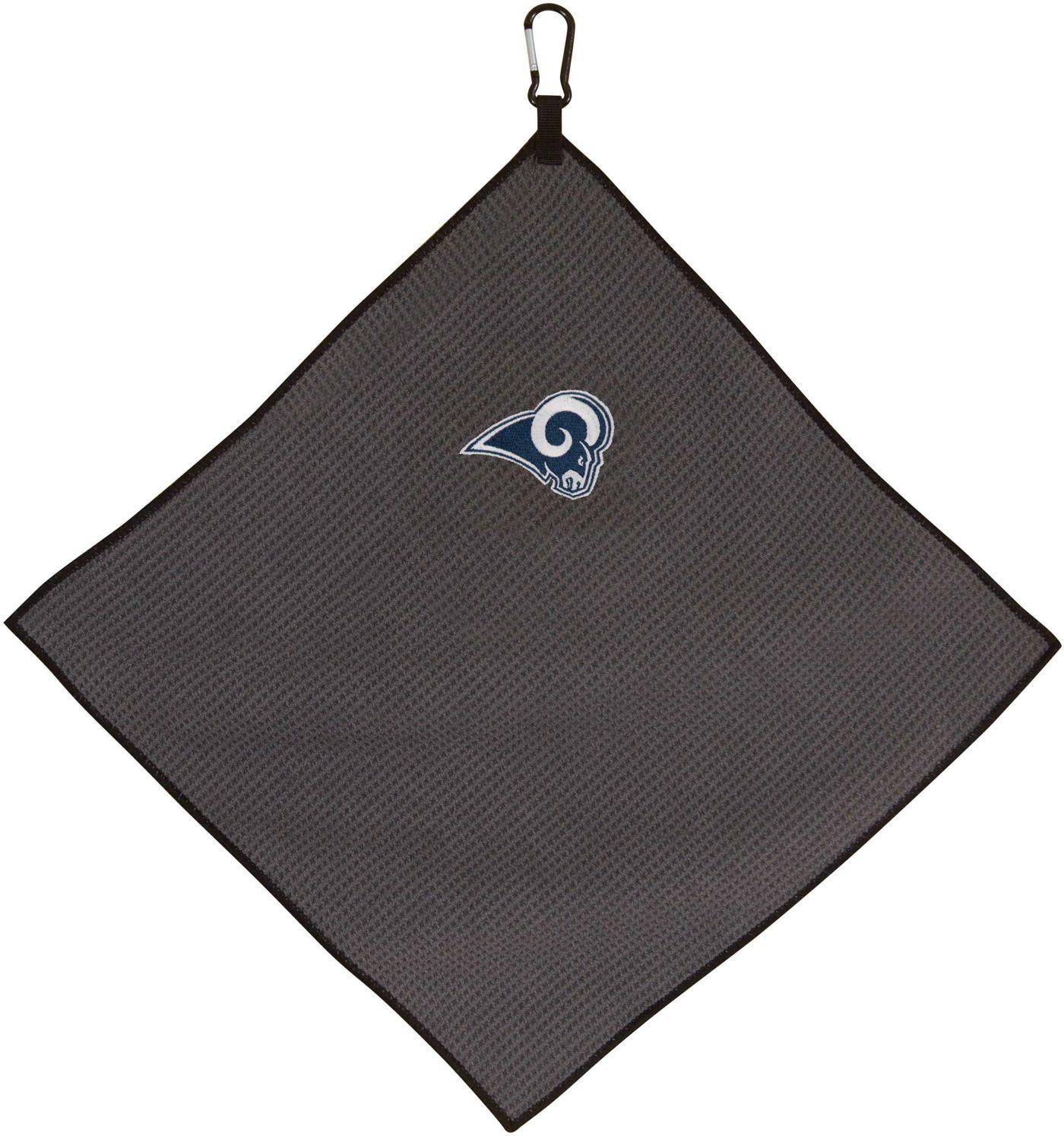 """Team Effort Los Angeles Rams 15"""" x 15"""" Microfiber Golf Towel"""
