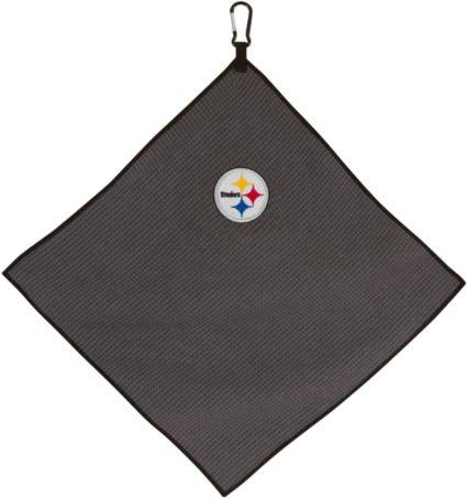 """Team Effort Pittsburgh Steelers 15"""" x 15"""" Microfiber Golf Towel"""